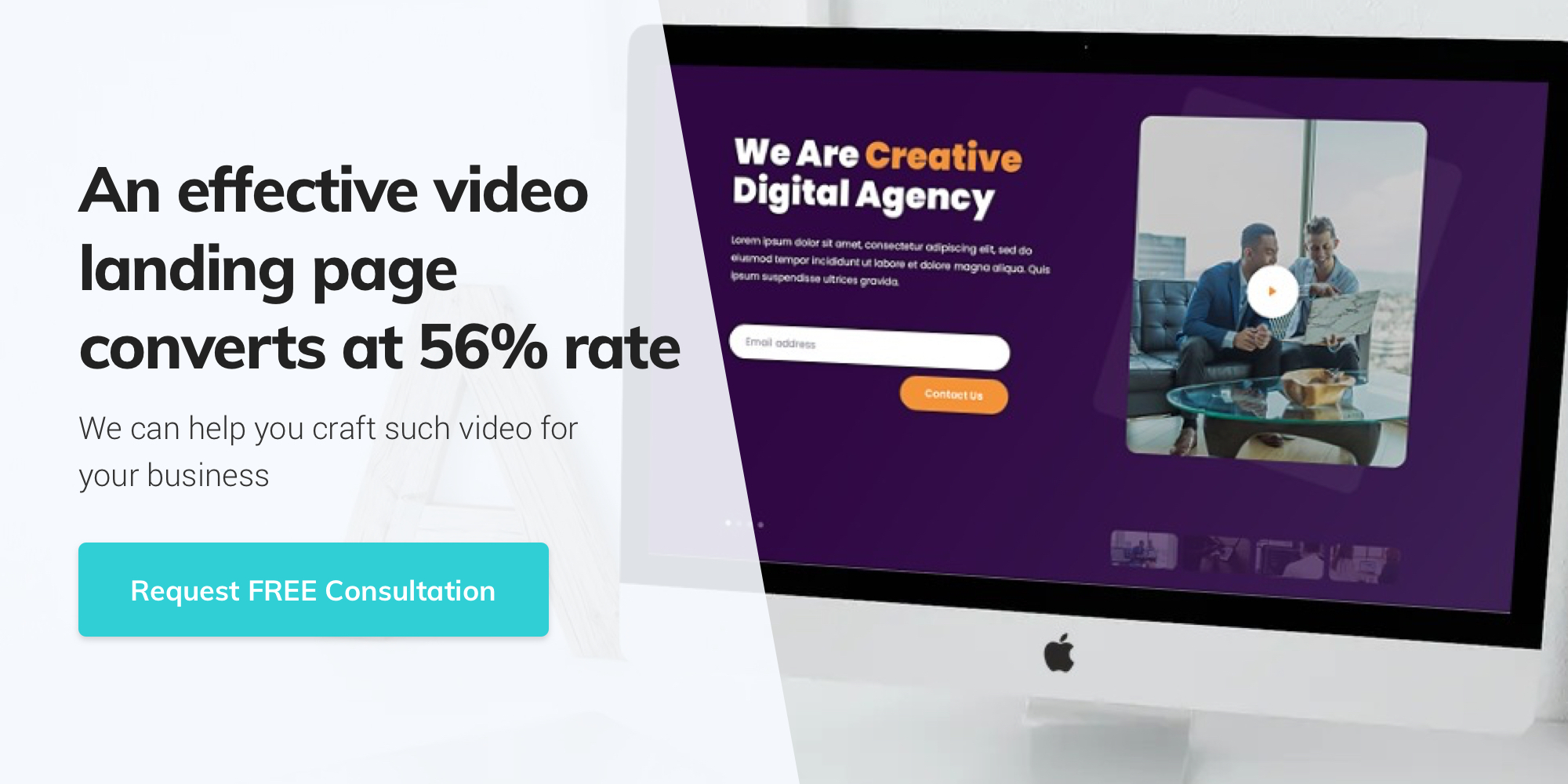 Contact Giant Panda Studio to build video landing page that converts