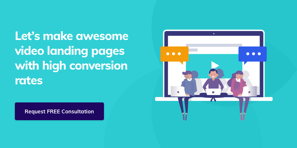 Contact Giant Panda Studio to develop a highly converting video landing page